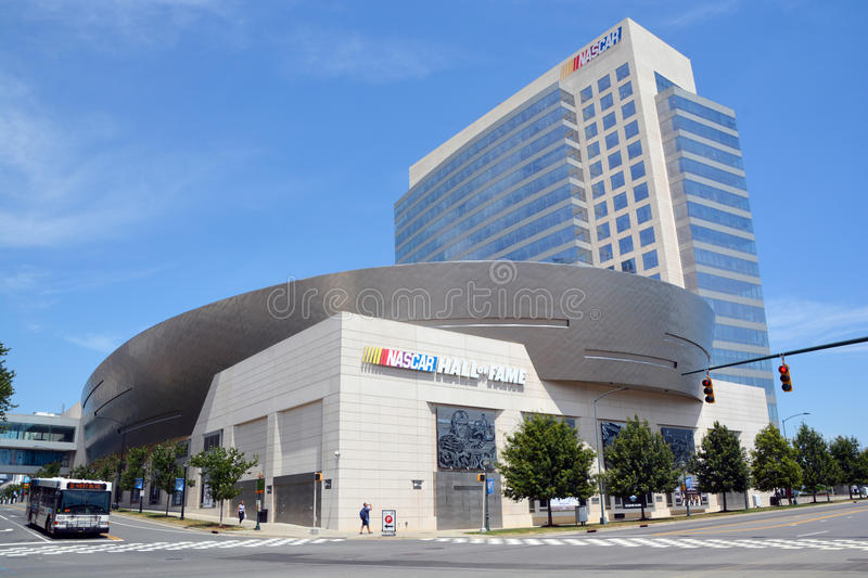NASCAR Hall of Fame. CHARLOTTE NORTH CAROLINA JUNE 20 2016: NASCAR Hall of Fame. Opened in 2010 it honors drivers who have shown exceptional skill at NASCAR royalty free stock images