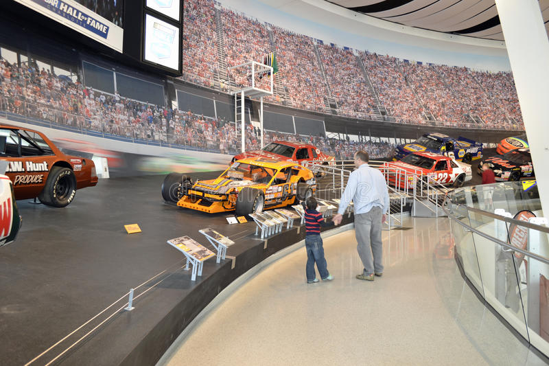 NASCAR hall of fame museum royalty free stock photography