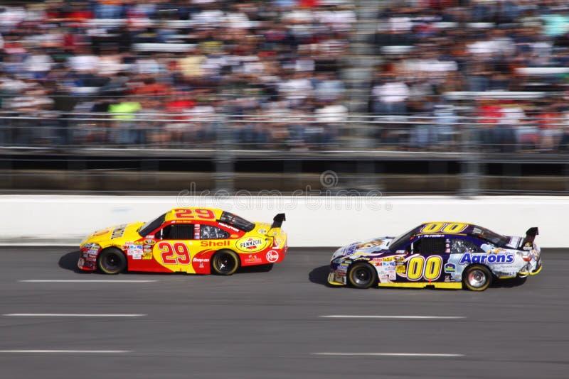 NASCAR - Harvick aboutit Reutimann image libre de droits