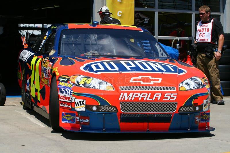 NASCAR - Jeff Gordon Rolls heraus stockfotos