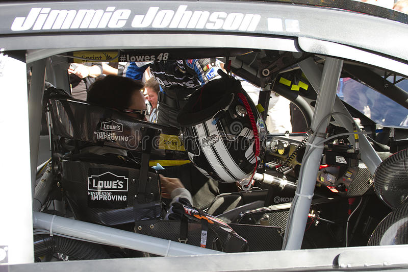 NASCAR Jimmie Johnson am Phoenix-International-Kanal lizenzfreies stockfoto