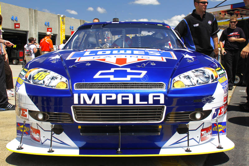 NASCAR - Johnson S #48 2010 Lowes Impala Editorial Stock Image