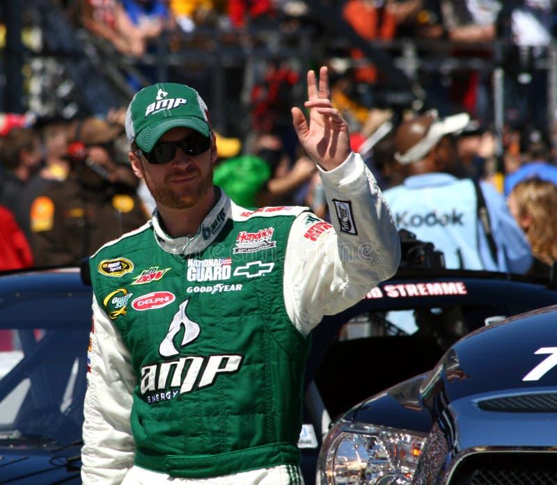 NASCAR - JR ondas de Dale Earnhardt fotografía de archivo