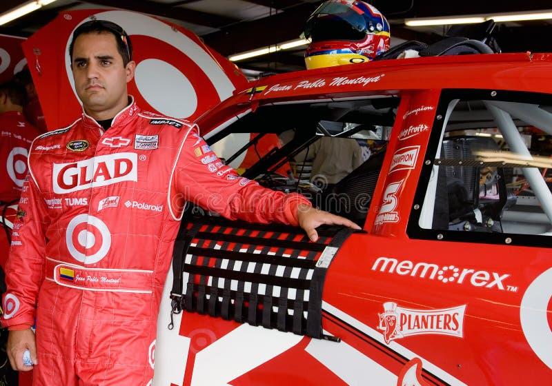 NASCAR: Juan Pablo Montoya LifeLock.com 400 royalty free stock photo