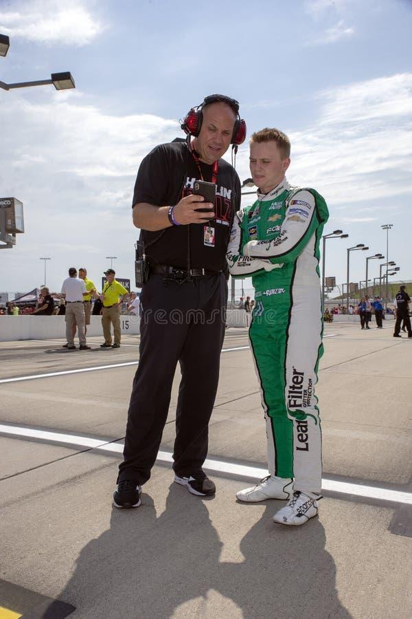 NASCAR : 27 juillet U S 250 cellulaires photographie stock libre de droits