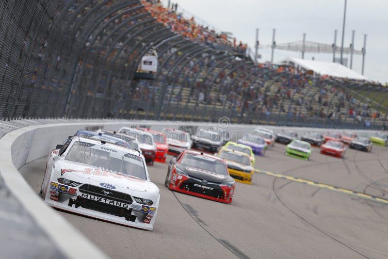 NASCAR : 28 juillet USA 250 cellulaires photographie stock