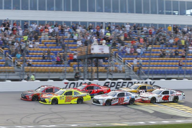 NASCAR : 28 juillet USA 250 cellulaires image libre de droits