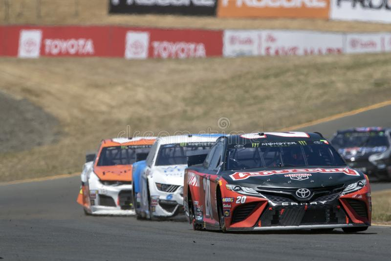 NASCAR : 23 juin Toyota/march? 350 d'?conomies photographie stock libre de droits
