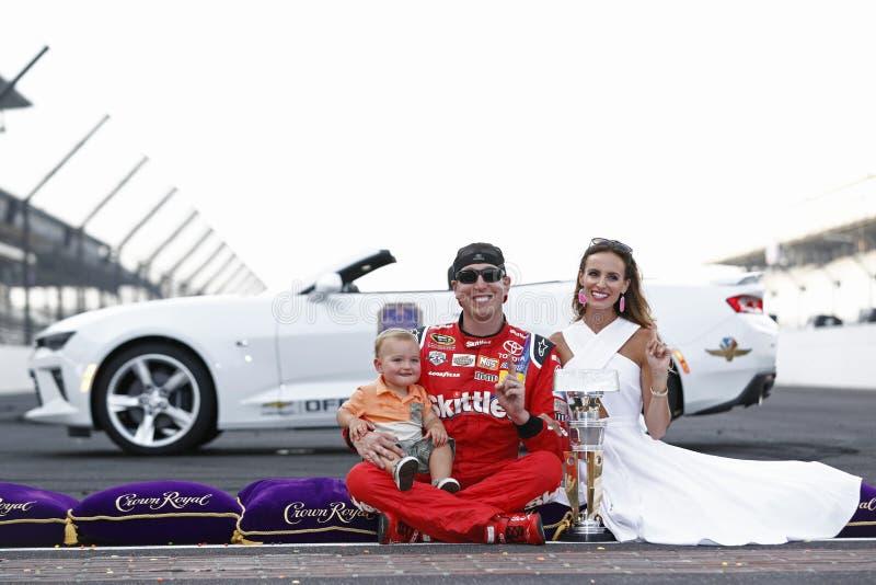 NASCAR: 24 juli Gevecht Gewonde Coalitie 400 stock afbeeldingen