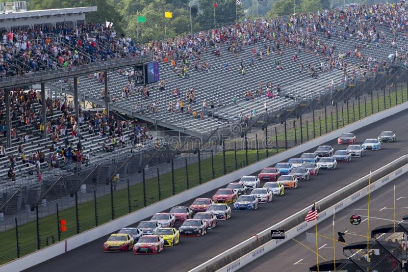 NASCAR: Am 24. Juli Kampf-verletzte Koalition 400 lizenzfreies stockbild