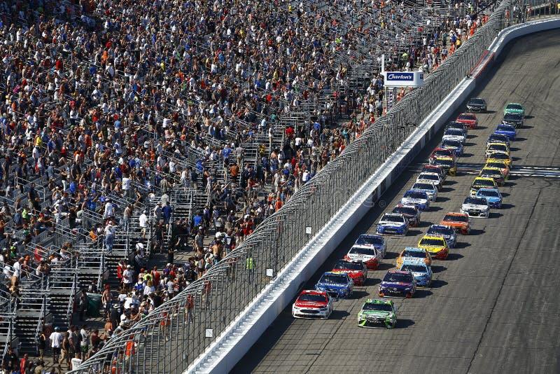 NASCAR: 16 juli Overton ` s 301 stock afbeelding