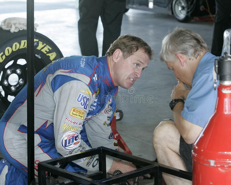 NASCAR-Kampioen Rusty Wallace stock foto's