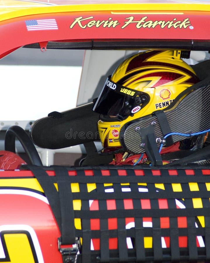 NASCAR kopbestuurder Kevin Harvick stock afbeelding