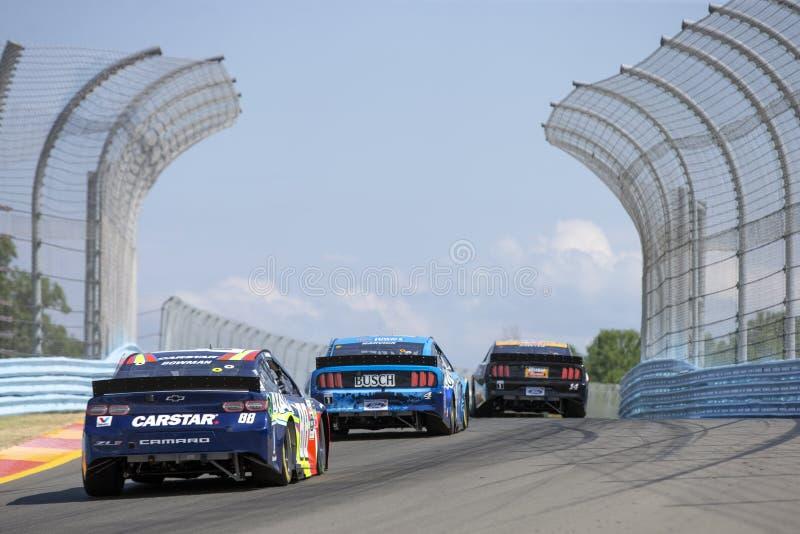 NASCAR : Le 4 ao?t vont rouler ? la gorge image libre de droits
