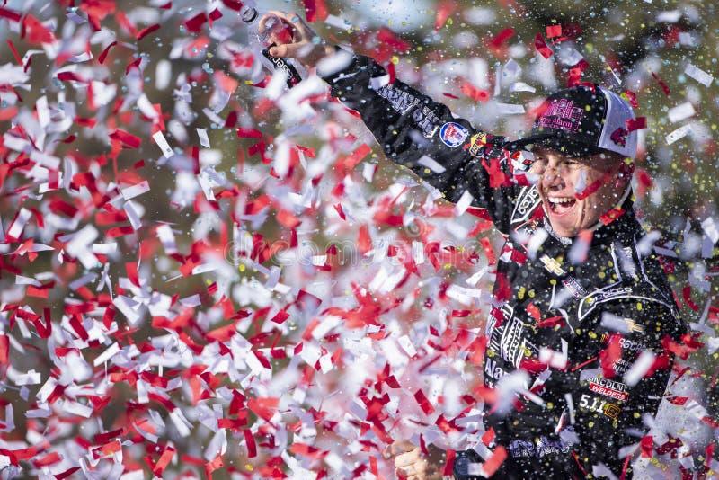 NASCAR : Loterie 300 du Kansas du 20 octobre images stock
