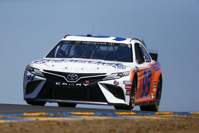 NASCAR : MARCHÉ 350 du 21 juin TOYOTA/SAVE photographie stock libre de droits