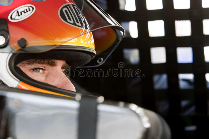 NASCAR: March 19 Food City 500. BRISTOL, TN - MAR 19: Jeff Gordon gets ready to practice for the running of the Food City 500 race at the Bristol Motor Speedway royalty free stock image