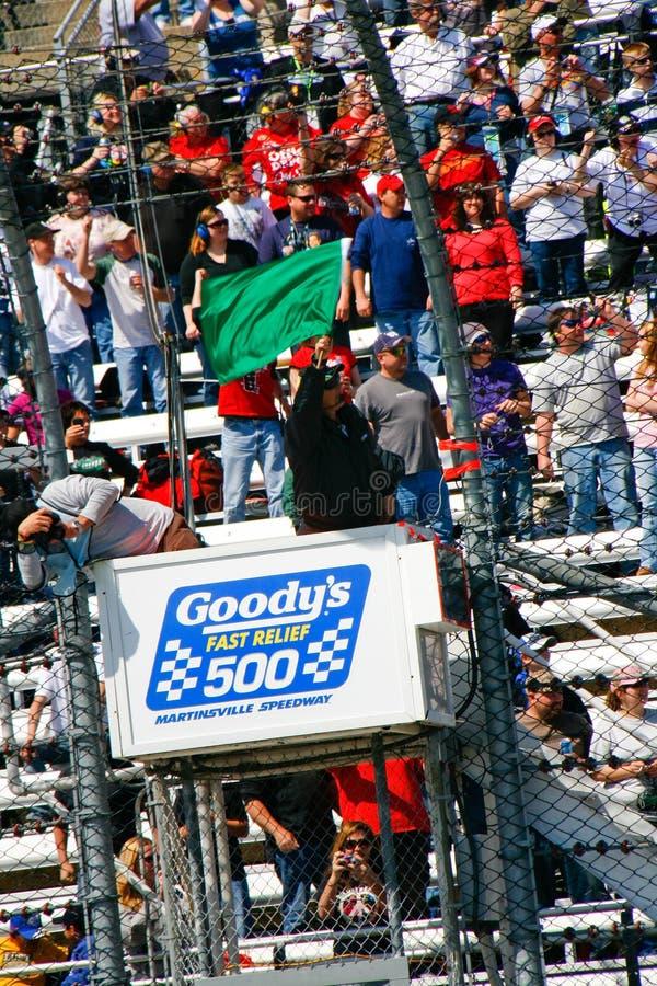 NASCAR - Martinsville deixou-nos ir Racin imagens de stock royalty free