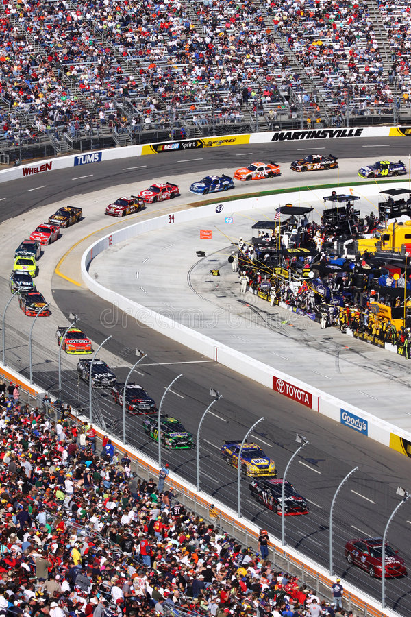 NASCAR - Martinsville - Follow the Pace Car stock image