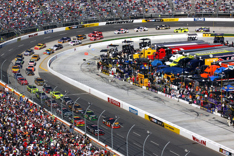NASCAR - Martinsville Goes Green! royalty free stock photos