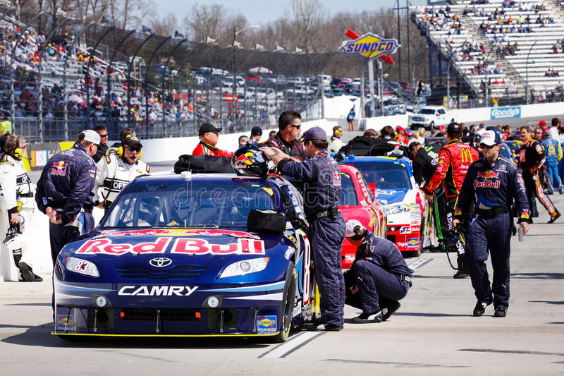 NASCAR - Martinsville Pit Road Red Bull Team stock photography