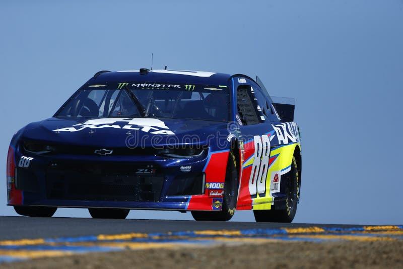 NASCAR: MERCADO 350 do 21 de junho TOYOTA/SAVE imagens de stock