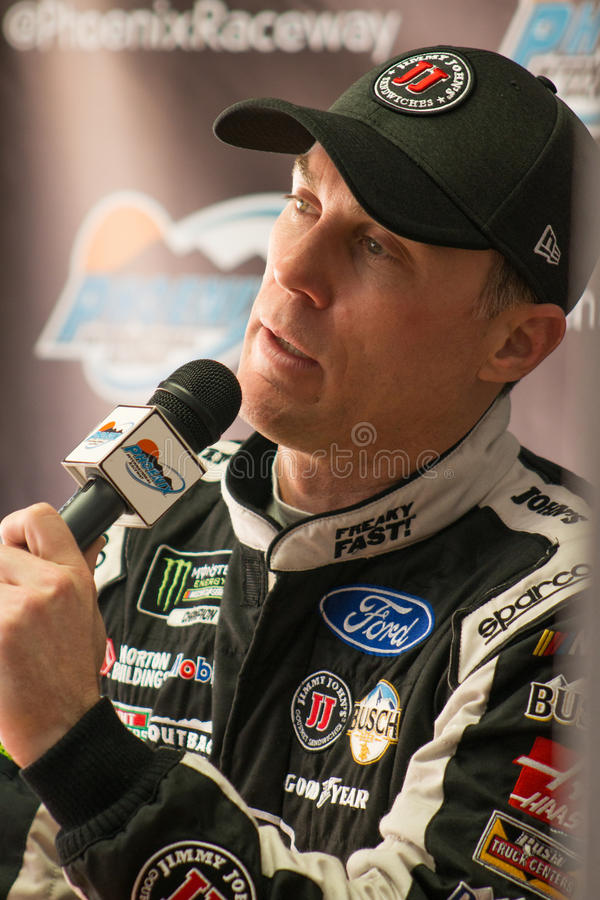 Nascar Monster Energy Cup Driver Kevin Harvick. Press conference at Phoenix International Raceway car testing event, Phoenix, Arizona. One driver from each team stock photo