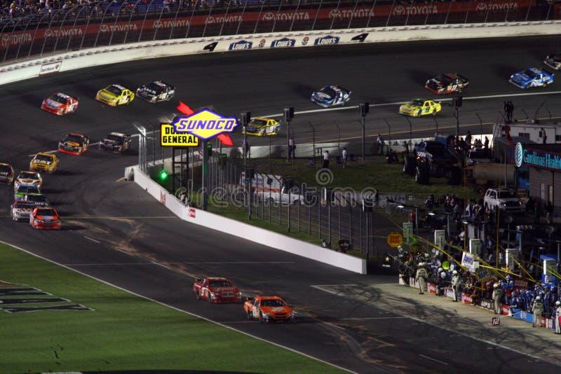 NASCAR - na estrada do poço fotos de stock
