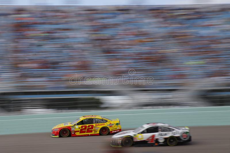 NASCAR: November 18 Ford 400. November 18, 2018 - Homestead, Florida, USA: Joey Logano 22 races during the Ford 400 at Homestead-Miami Speedway in Homestead royalty free stock image
