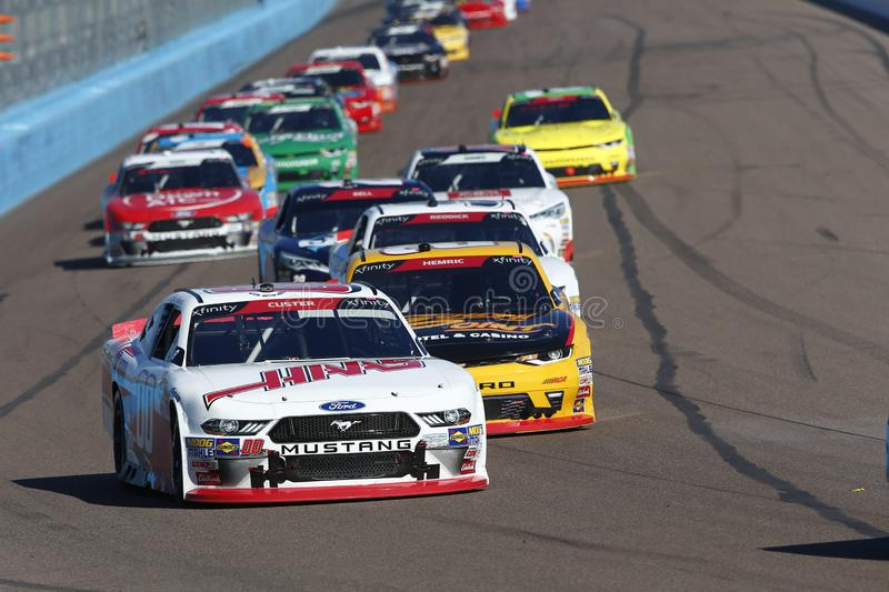 NASCAR: November 10 Whelen Trusted to Perform 200. November 10, 2018 - Avondale, Arizona, USA: Cole Custer 00 battles for position during the Whelen Trusted to stock photo