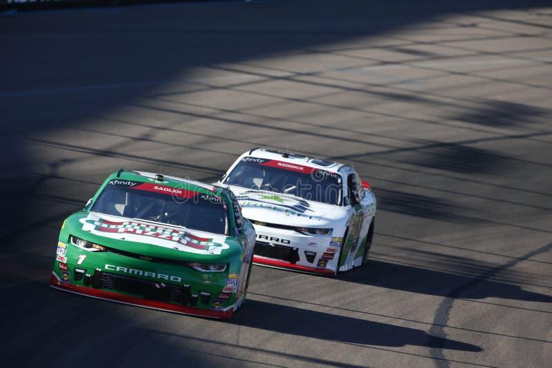 NASCAR: November 10 Whelen Trusted to Perform 200. November 10, 2018 - Avondale, Arizona, USA: Elliott Sadler 1 battles for position during the Whelen Trusted to stock photography