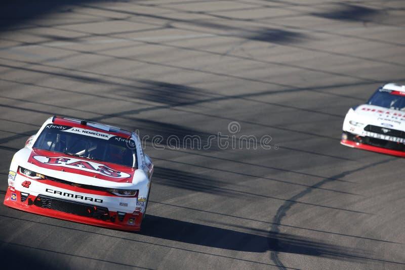 NASCAR: November 10 Whelen Trusted to Perform 200. November 10, 2018 - Avondale, Arizona, USA: John Hunter Nemechek 42 battles for position during the Whelen stock images