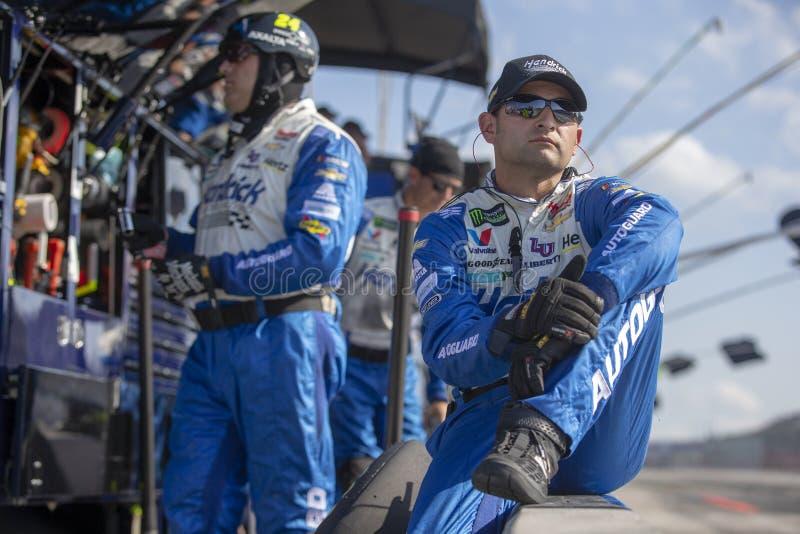 NASCAR: O 4 de agosto vai rolar no vale fotografia de stock