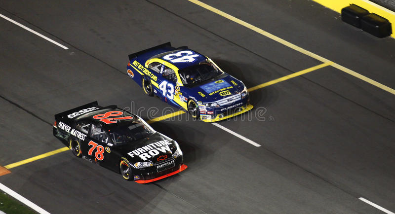NASCAR - Off Pit Road First! stock photos