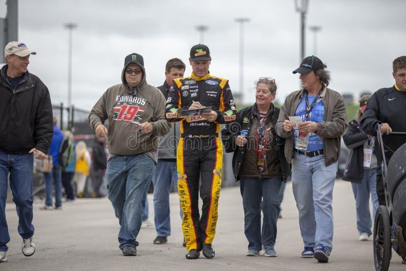 NASCAR: 19 oktober Hollywood-Casino 400 royalty-vrije stock afbeelding