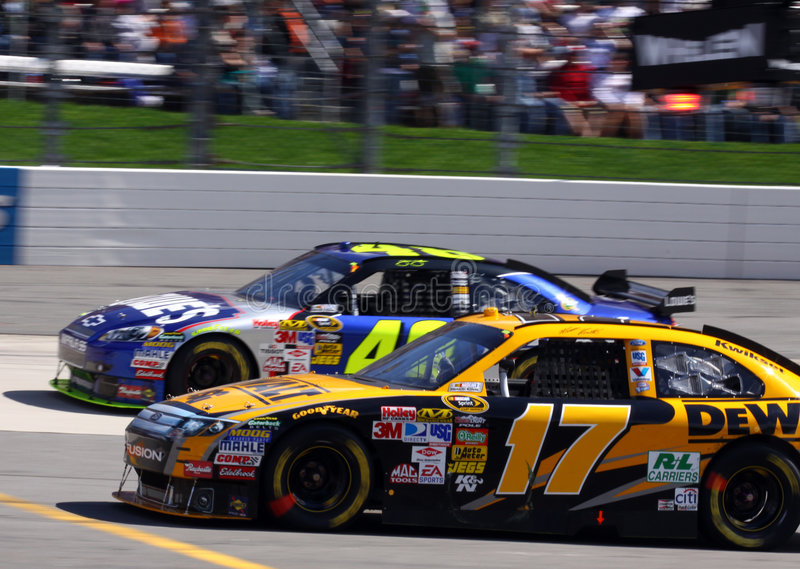 NASCAR - Past Meets Present stock image