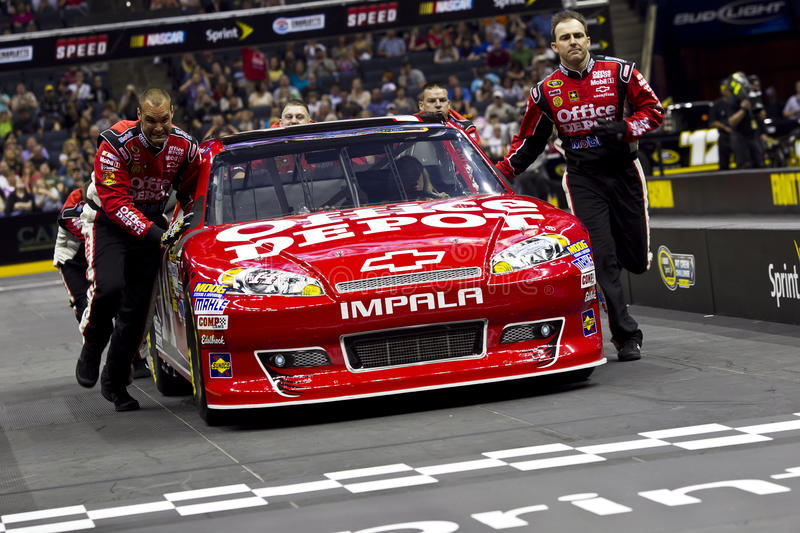 NASCAR: Pit Crew Challenge Stewart royalty free stock photography