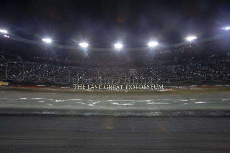 NASCAR: Raça da noite do NRA de Bass Pro Shops do 18 de agosto imagem de stock royalty free