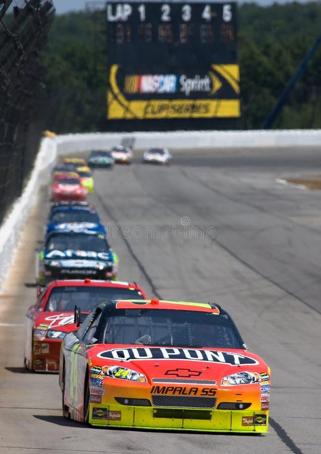 NASCAR: Rotes Kreuz Pennsylvania 500 3. August-Sunoco stockbilder