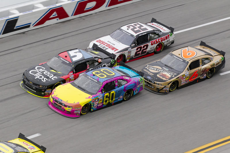 NASCAR 2013:  Série Aarons 312 o 4 de maio de âmbito nacional fotos de stock royalty free