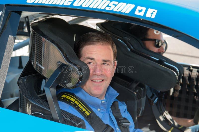 NASCAR ` s Jimmie Johnson Day in Arizona stock afbeelding