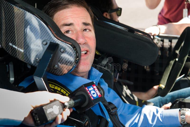 NASCAR ` s Jimmie Johnson Day in Arizona stock foto's