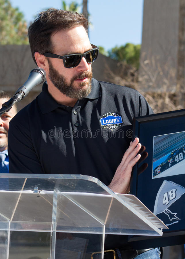 NASCAR-` s Jimmie Johnson Day in Arizona lizenzfreies stockbild