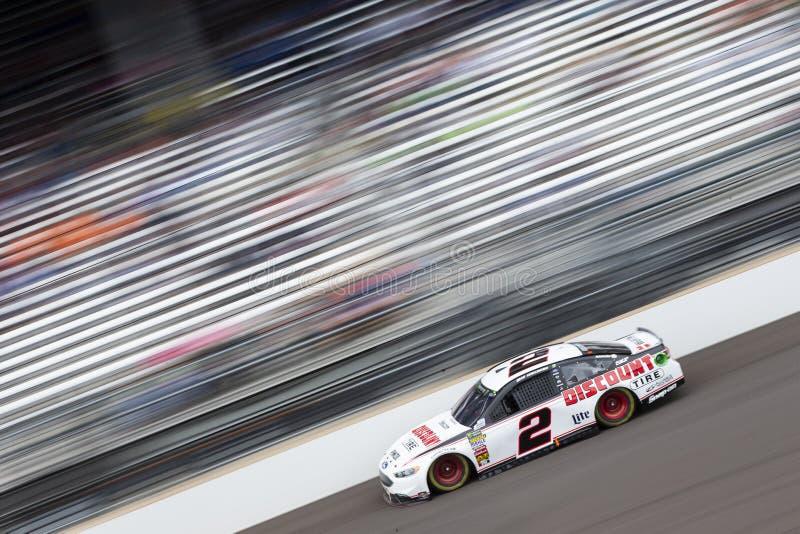 NASCAR: 10 september Grote Machinewodka 400 bij Brickyard stock foto