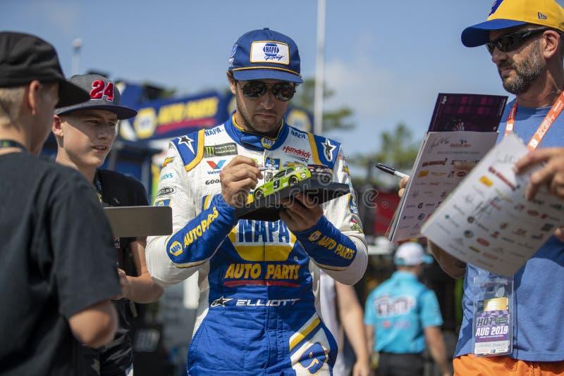 NASCAR: Sierpień 03 Iść Rzucać kulą przy roztoką zdjęcie royalty free