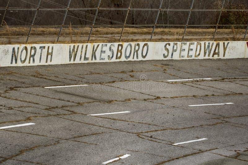 NASCAR : Speed-way du nord de Wilkesboro du 22 novembre images libres de droits