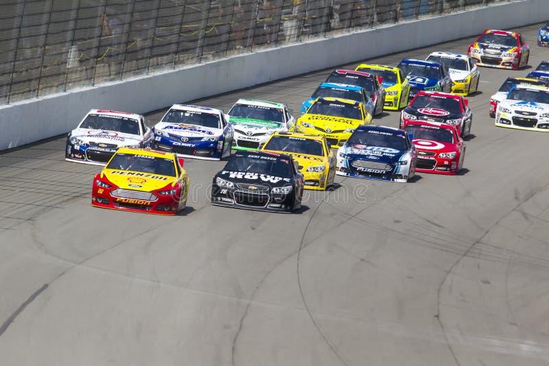 NASCAR 2013:  Sprint copo série Michigan 400 o 18 de agosto puro imagem de stock royalty free