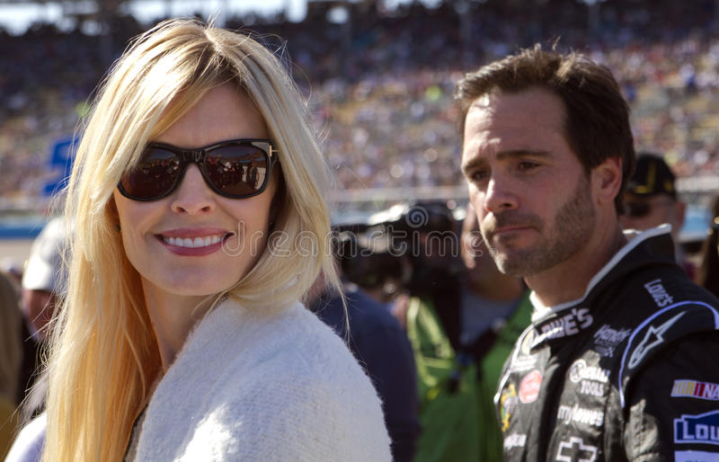 NASCAR Sprint Cup Champion driver Jimmie Johnson stock photography