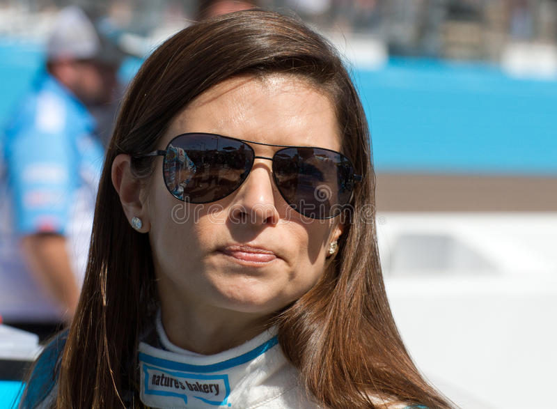 NASCAR Sprint Cup and Nationwide Danica Patrick. Danica Patrick before the start of the Subway Fresh Fit 500 NASCAR Sprint Cup Race in Phoenix, Arizona, USA stock photos