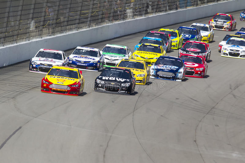 NASCAR 2013: Sprint Cup Series Pure Michigan 400 August 18 royalty free stock image
